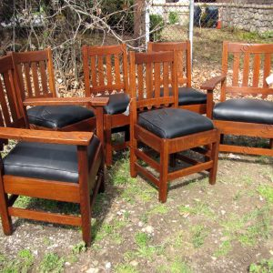 STICKLEY Bros Set Of 6 Dining Chairs F9586