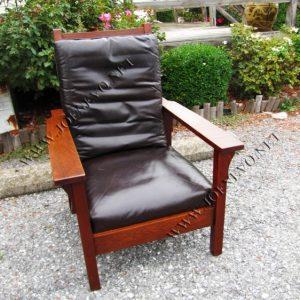 Antique Gustav Stickley  Morris Chair     w3056