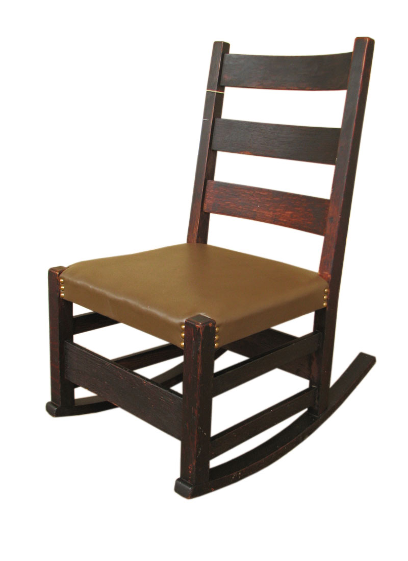 Rocking chairs morris chairs antique mission oak rocking chair - Gustav Stickley Sewing Rocker F9677
