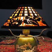 Superb  Antique  Heintz  Table  Lamp  |  Ff483