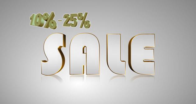Sale 10-25 percent