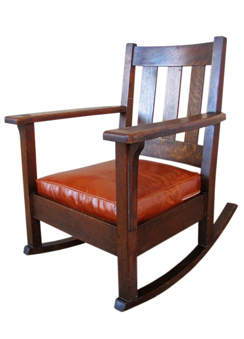 Rocking chairs morris chairs antique mission oak rocking chair - Home Shop Antique Furniture Rockers Limbert Rocker F165