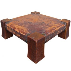 Antique Nice Gustav Stickley Foot Rest Monk Foot Stool | W1297‎