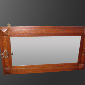 Antique Superb  Mission Arts And Crafts Wall Mirror  | w2707‎