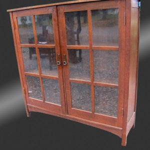 Antique Nice L&JG Stickley Two Door Bookcase | w3253‎