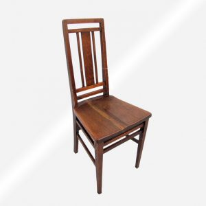 Antique Arts And Crafts Hall Chair w3985