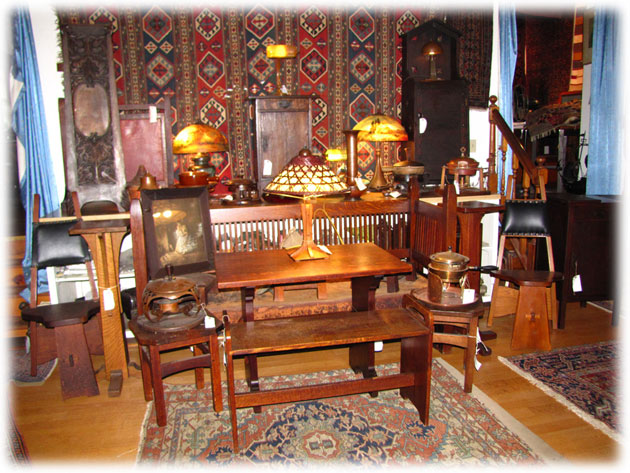 Browse and purchase hundreds of pieces of antique Mission and Arts & Crafts  furniture as well as hundreds of antique Oriental and Persian Rugs - HomeAntique Gustav Stickley Mission Furniture JoeNevo.Net